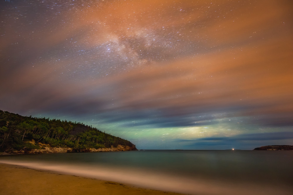 Cloudy Skies by Night at Sand Beach