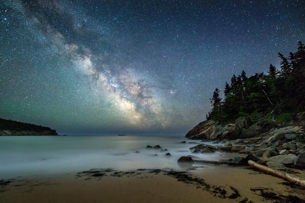 Milky Way Over Sand Beach