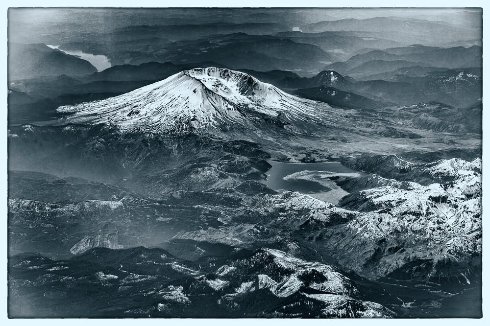 Mount St. Helens b&w - Seattle, Washington 2014