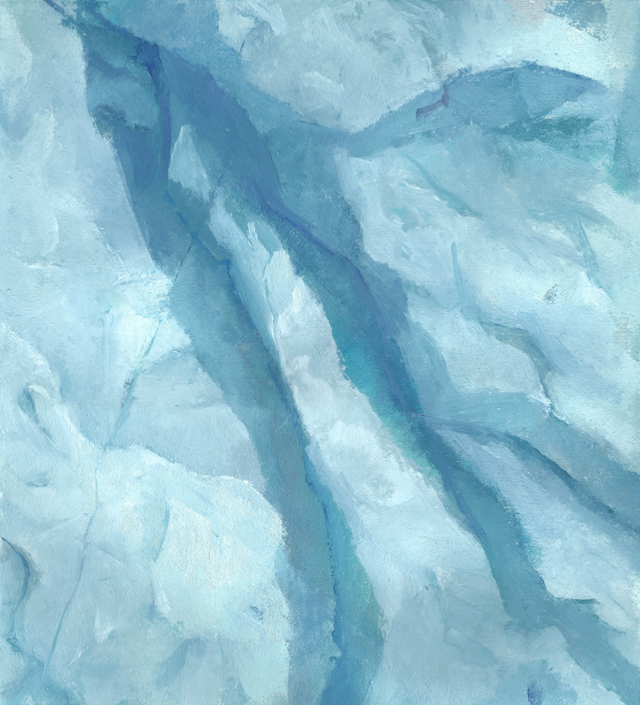 Ice Face | Glacier Art Print by Antrese Wood