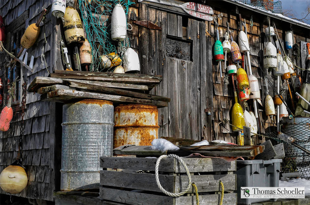 Lobster buoys fine art prints from coastal Maine by Thomas Schoeller