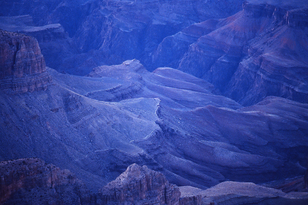 Grand Canyon in Blue