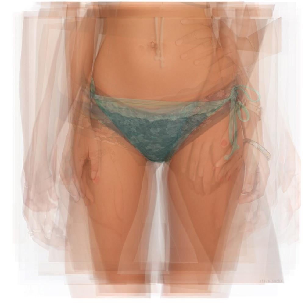 Overlay art – contemporary fine art prints of a bikini bottom