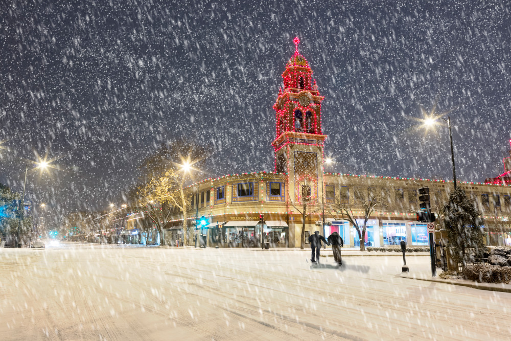 Snowy Stroll On The Kansas City Plaza