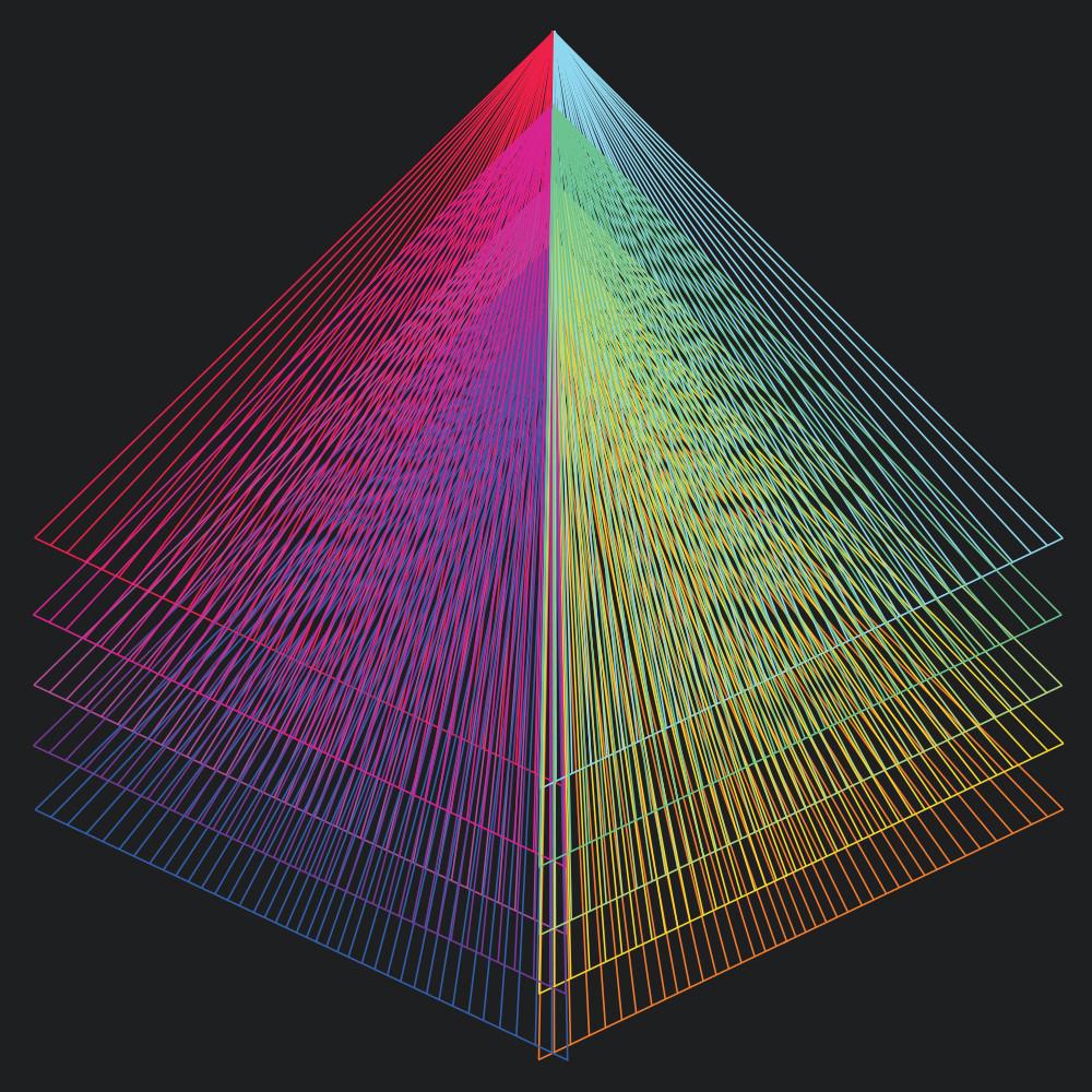 vortex, rainbow, spectrum, wall art, art