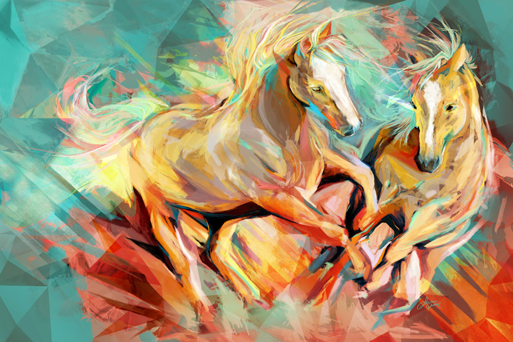 Palomino Duo Bold Colour Art