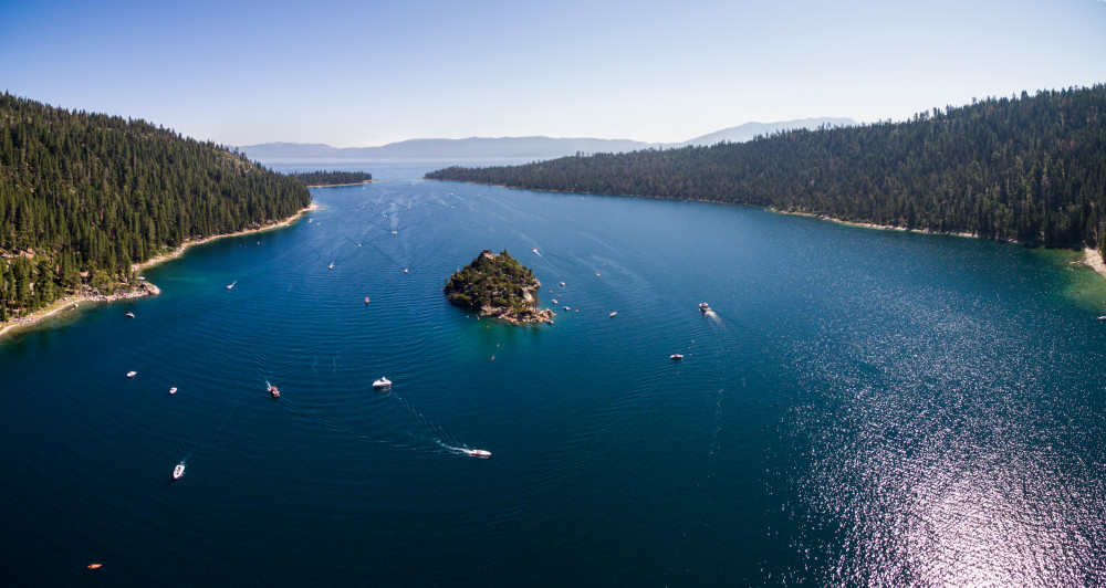 Emerald Bay Aerial Panorama