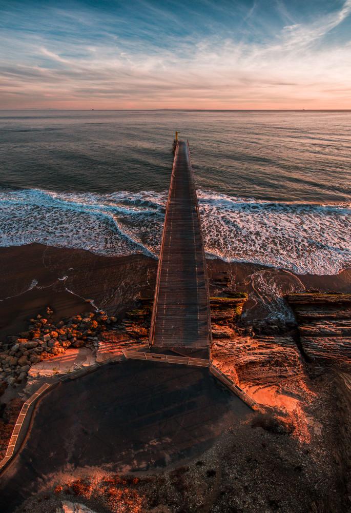 Gaviota Pier Aerial Panorama
