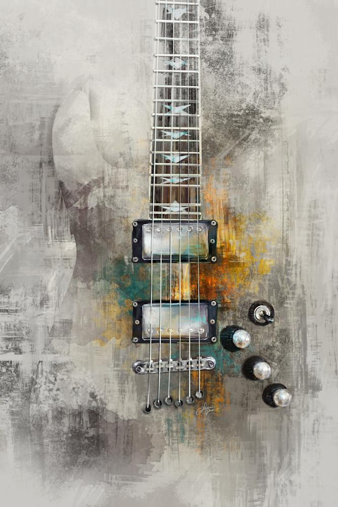 Electric Guitar - Light Version - Painted Art Print