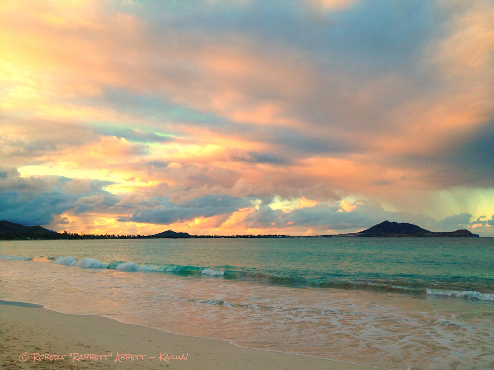 Evening with colors on Kailua Bay