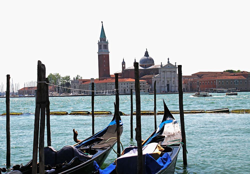 Venice Lagoon and Gondolas