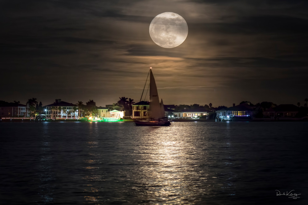 Sailing the Supermoon Photographic Art