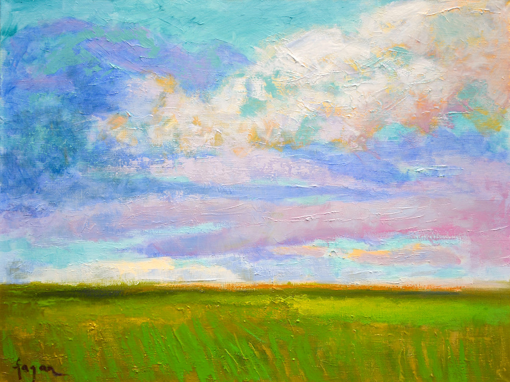 Inspiring Cloud Painting Fine Art Print, April Morning by Dorothy Fagan