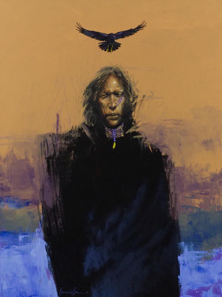 Enchanting and Powerful Art Print of Ravenmaster Shaman