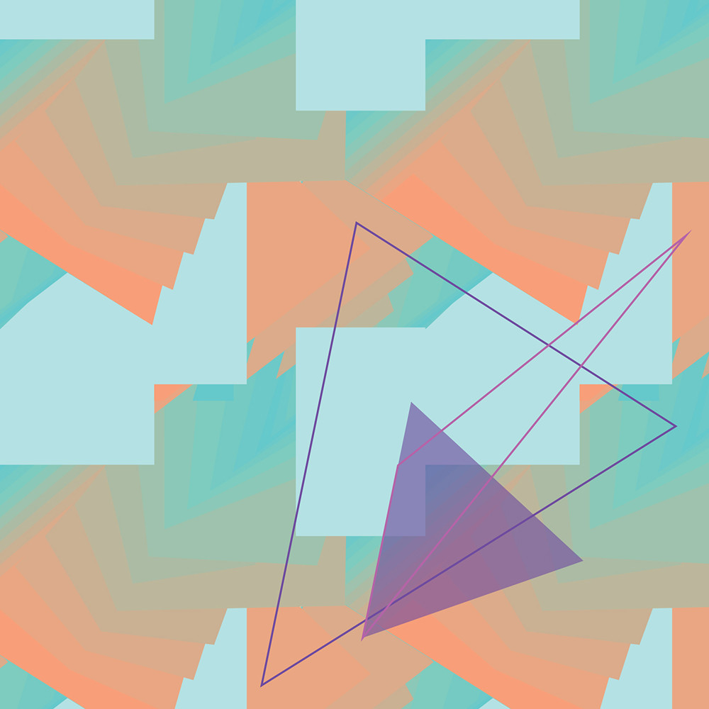 wall art, triangle, art, gradient, spectrum