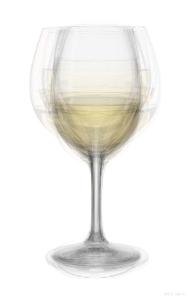 Overlay art – contemporary fine art prints of a white wine glass