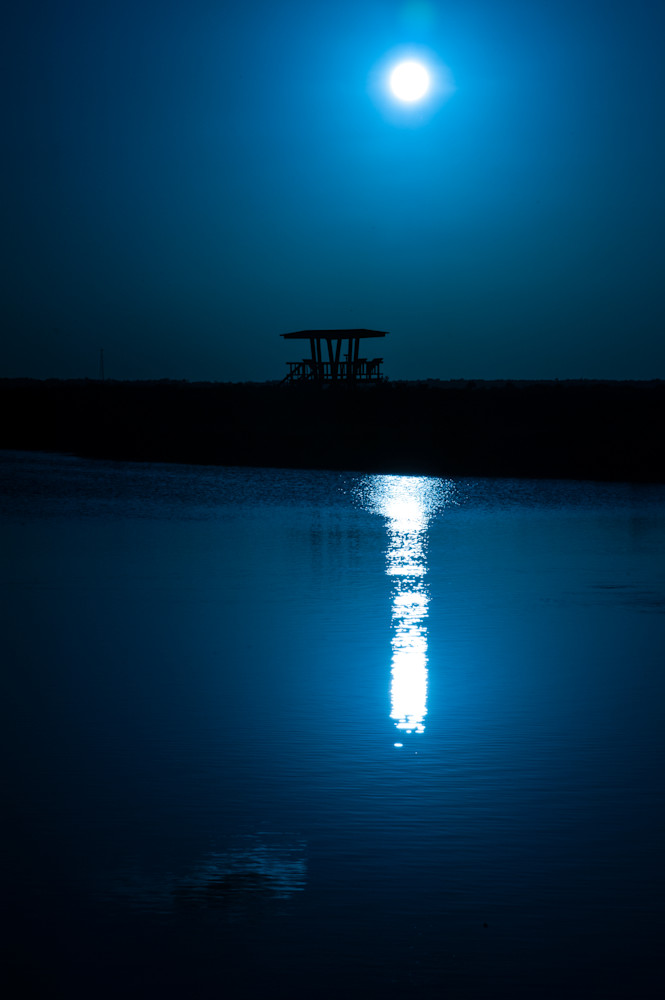 Watchtower at night