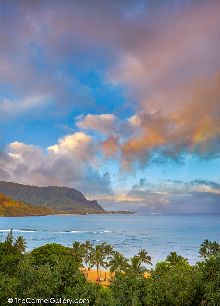 photo of sunrise over Hanalei Bay