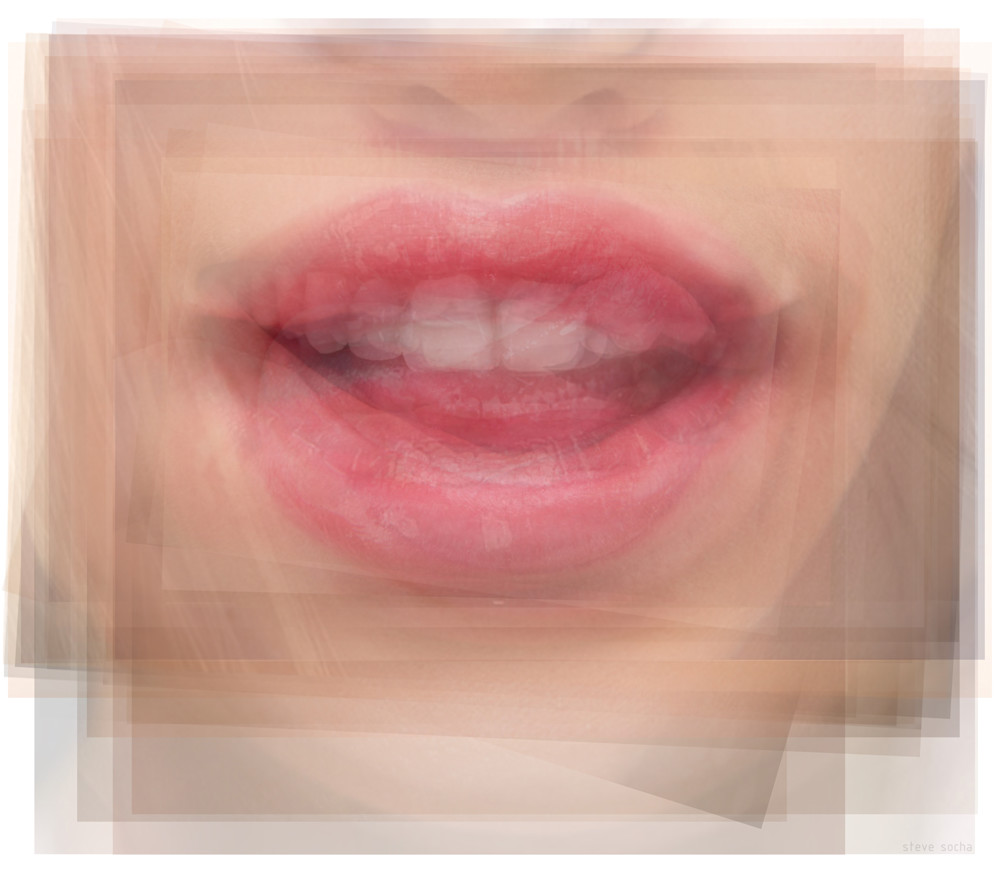 Overlay art – contemporary art prints for sale of licking lips