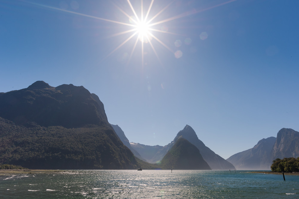 Sunny Milford Sound Photograph for Sale as Fine Art.