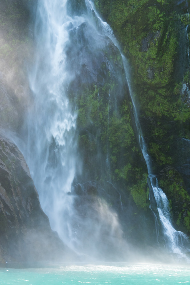 Milford Sound Waterfall Photograph for Sale as Fine Art.