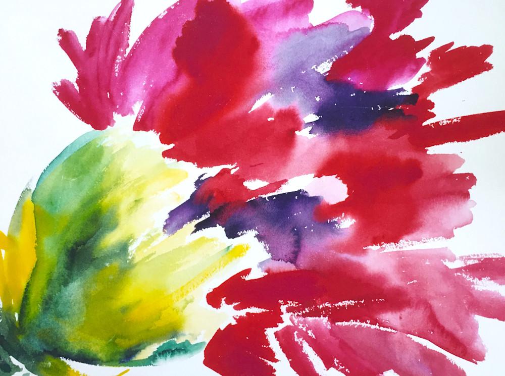 Sassy Red Carnation  Art | Jane M Mason, Co.