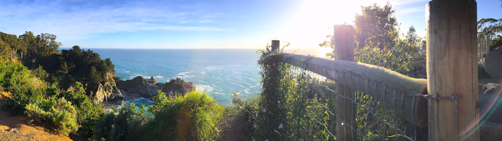 California Coast and a Rainbow Lens Flare