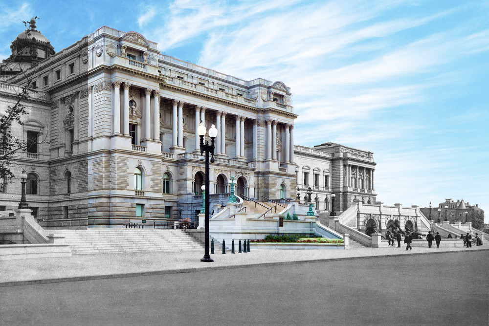 Library Of Congress, West Façade Art | Mark Hersch Photography