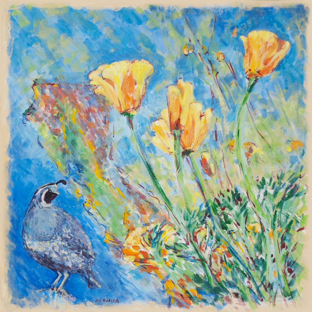 California's Poppies and Quail