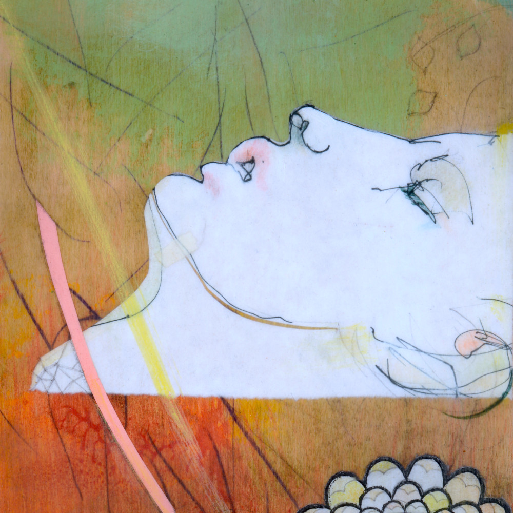 Floating David Art by Maui, Hawaii Artist Brad Huck for Sale - Wet Paint NYC Gallery