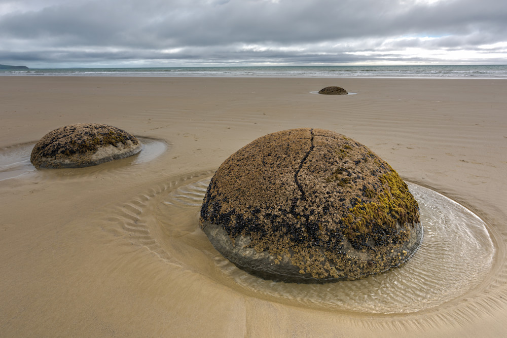 Dinosaur Eggs ~ Moeraki Boulders Photograph for Sale as Fine Art.