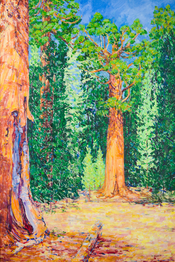 General Sherman Tree 4'x6' painting and custom size canvas prints.