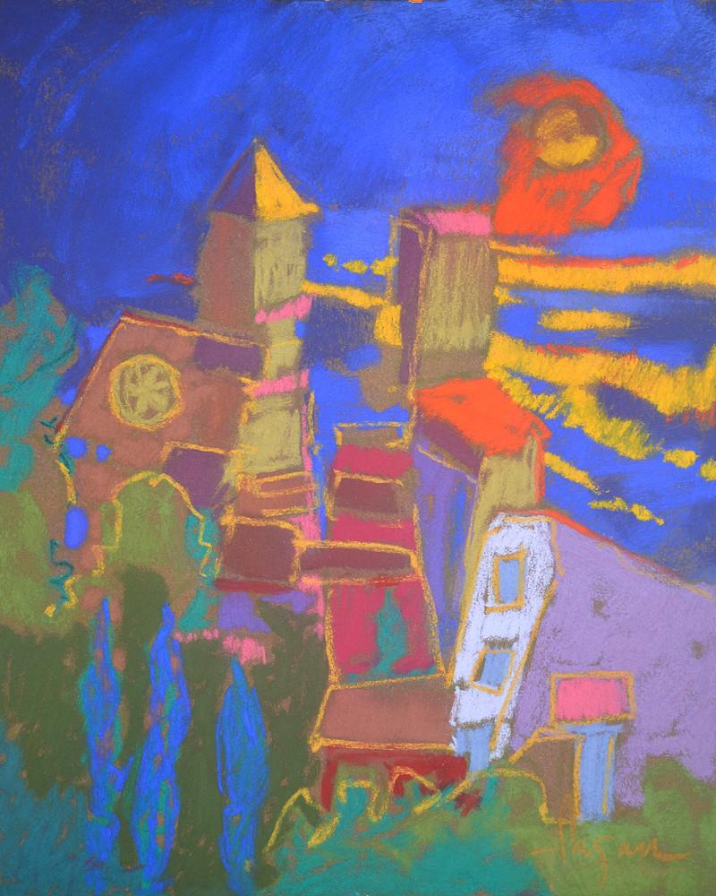 Cinque Terre Painting, Art Print by Dorothy Fagan