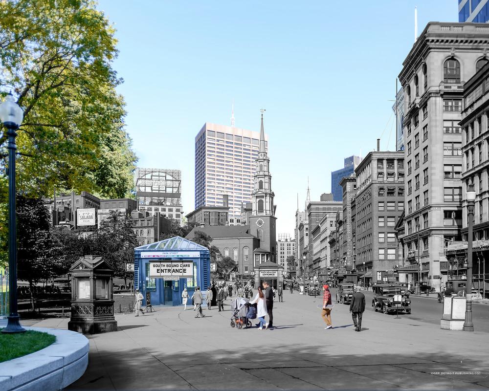 Subway Entrances, Boston Common