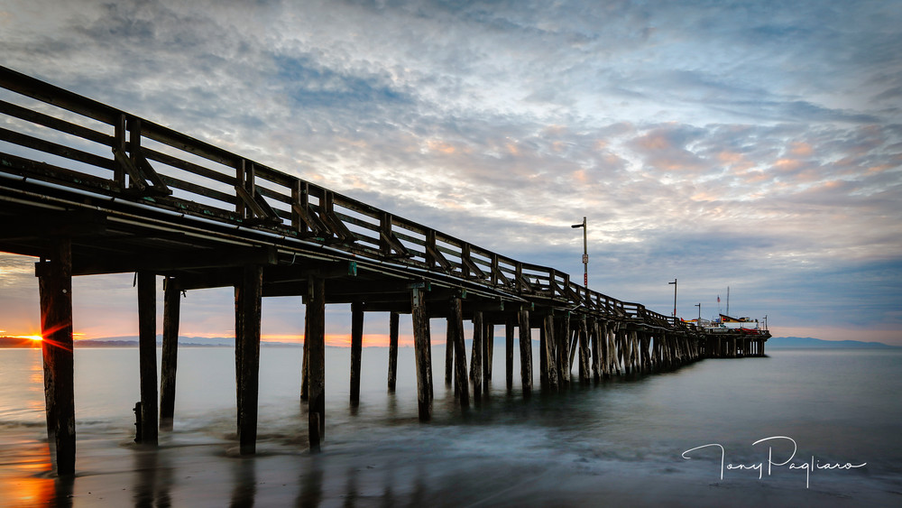 Capitola Wharf At Sunrise Art | Tony Pagliaro Gallery