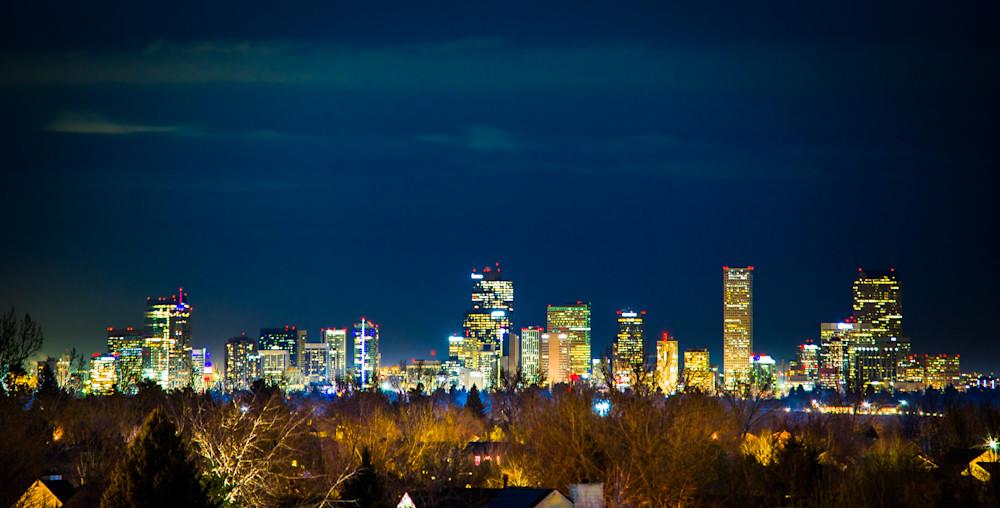 Denver Skyline, A Fifteen Mile View. Art | Studio Grynn