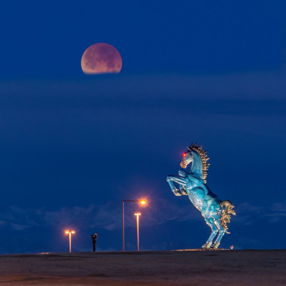 Blucifer Vs The Blood Moon Photography Art | Jon Blake Photography