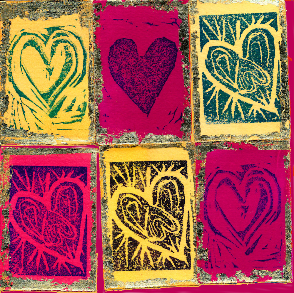 Six Hearts Art | Pam White Art