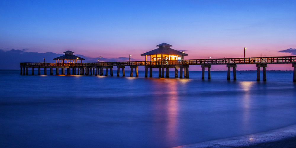 Dusk at the Pier - Scenic Prints | William Drew Photography