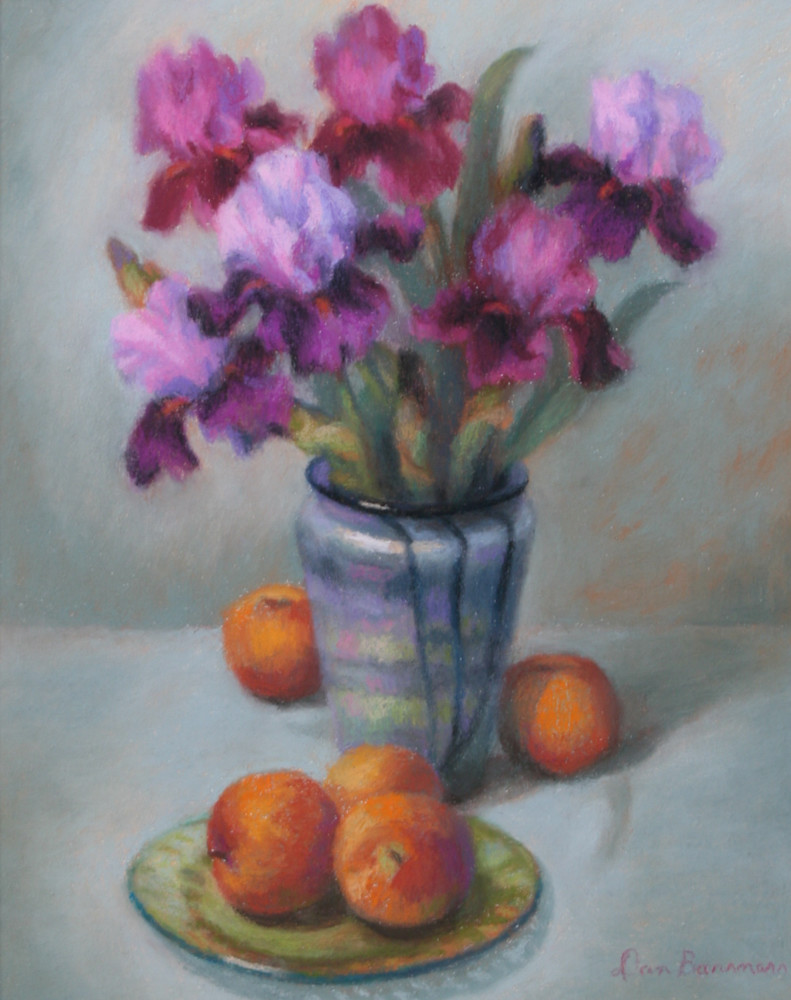 Irises and Tangerines