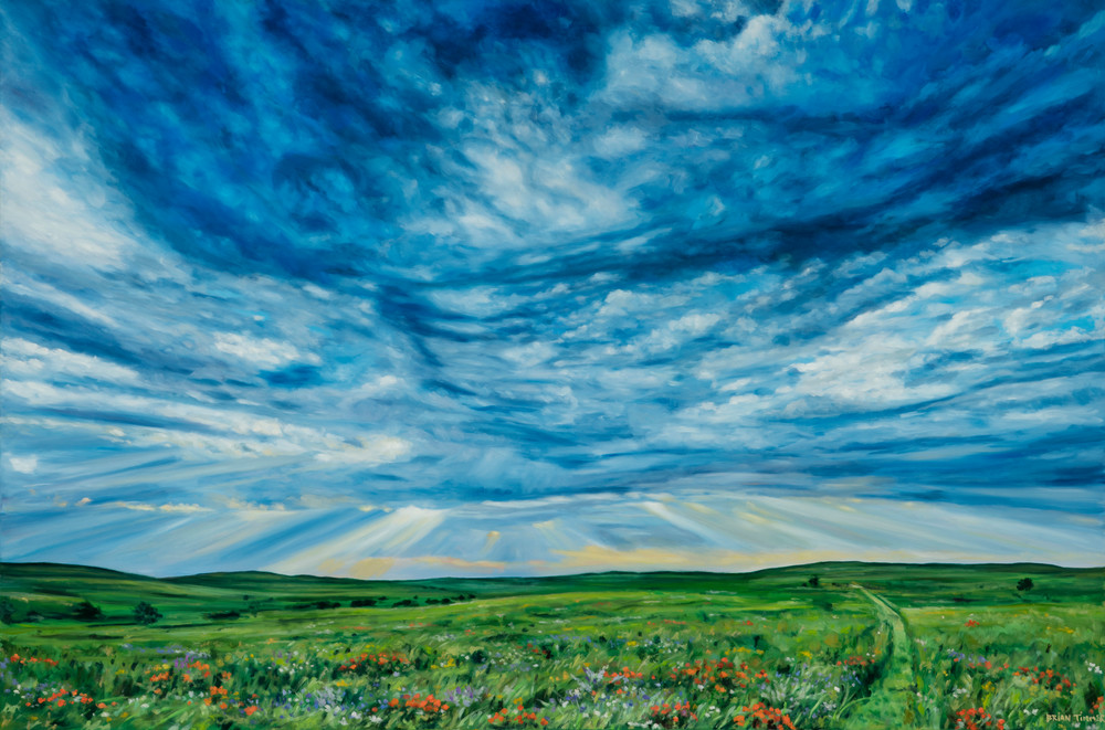 Flints Hills VI Oil Painting