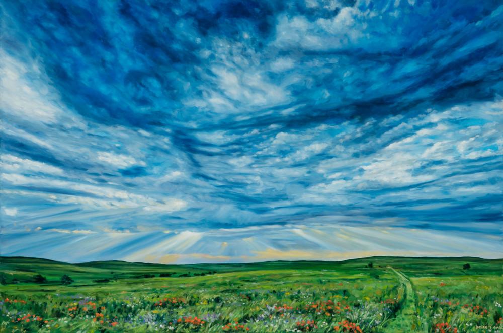 Flints Hills VI Oil Painting