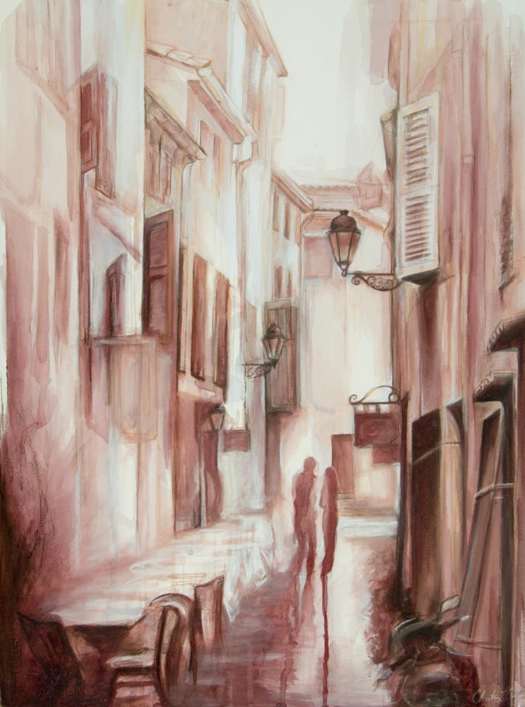 Cafe St. Tropez, fine art print by Christina LoCascio