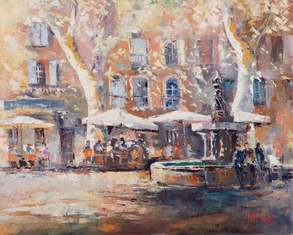 La Fountaine du Neuf Jets, art print by James Pratt