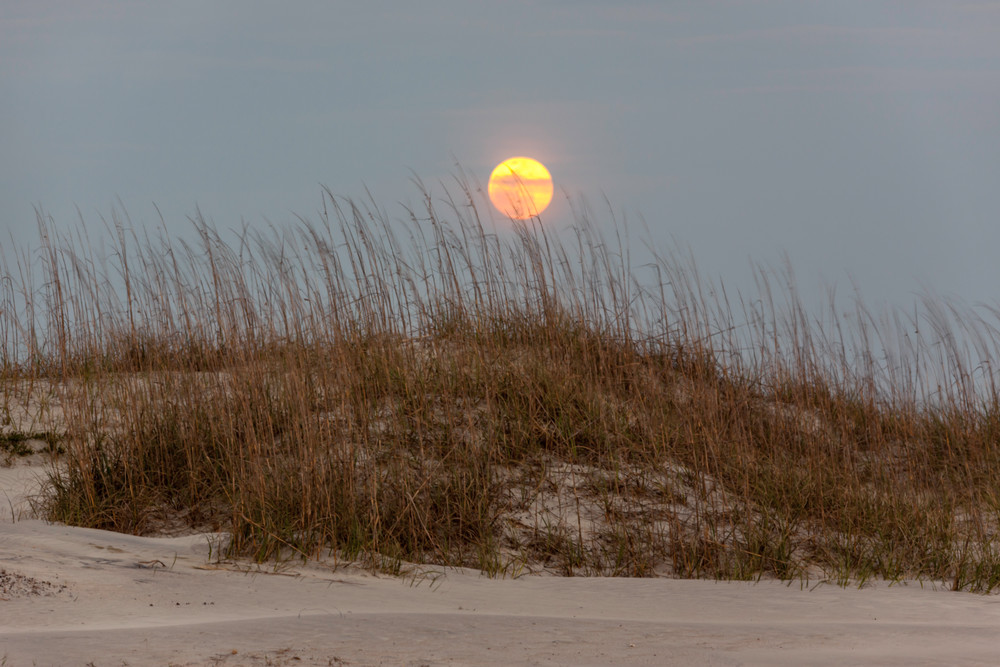 Full Moon over Dunes