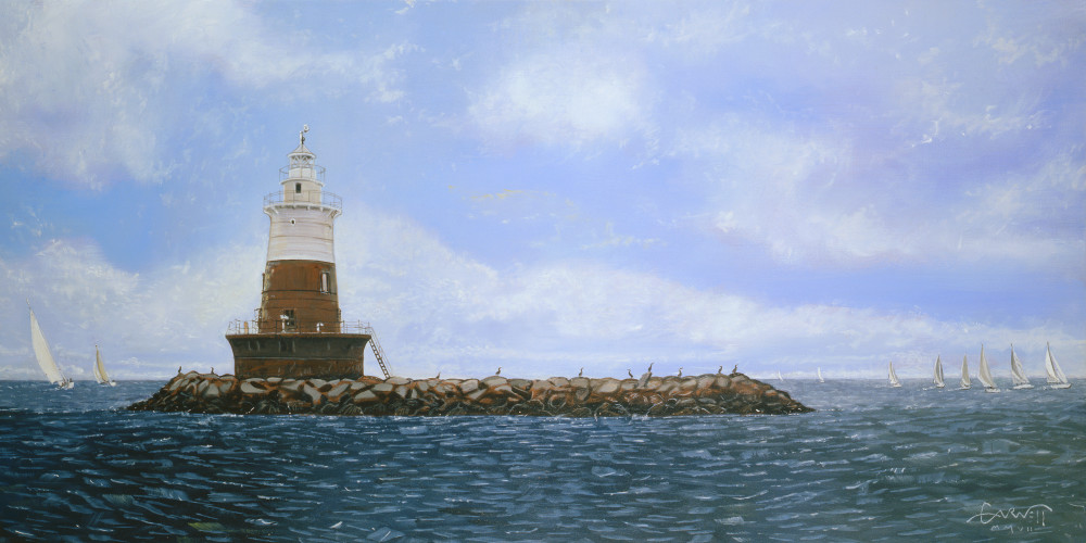 Greens Ledge Light Art | Sandy Garnett Studio