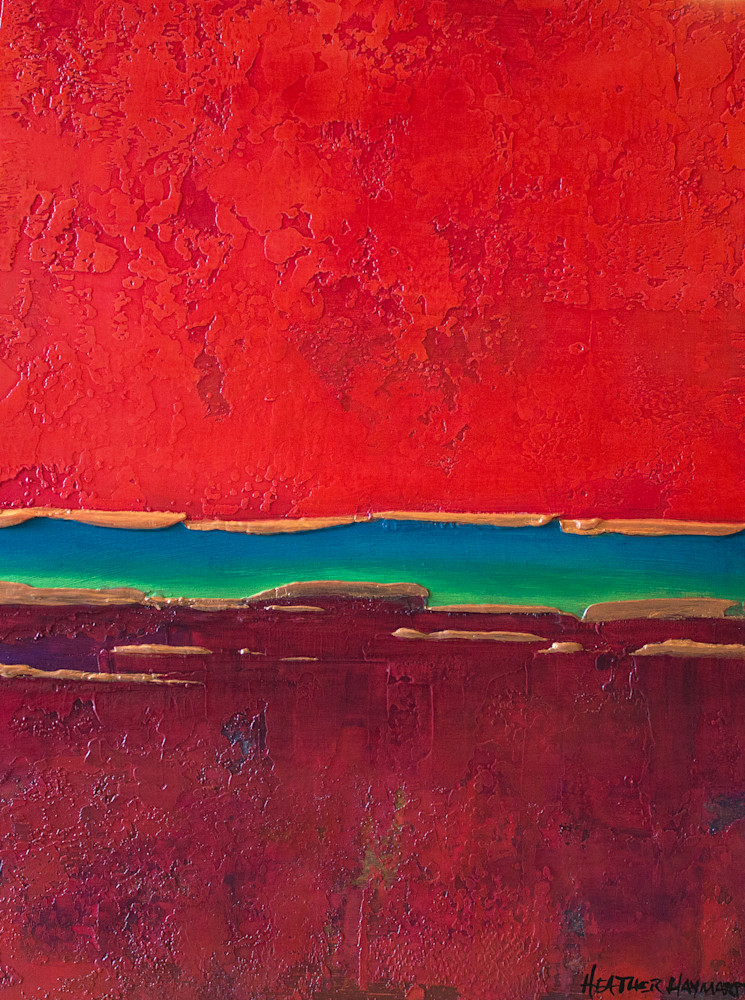 Rainbow Series Red 1 Print  Art | Heather Haymart Fine Art