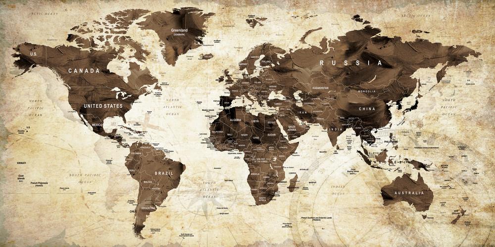 Vintage World Map 1