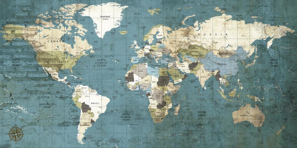 Vintage World Map 2