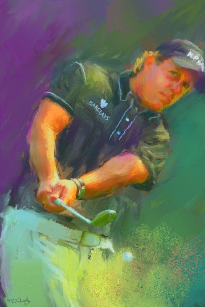 Phil Mickelson painting | Sports artist Mark Trubisky | Custom Sports Art